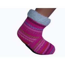 Detské teplé ponožkové papuče 19 cm