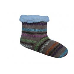 16 cm! Detské ponožkové papuče - béžové