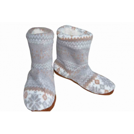 Dámske  teplé vysoké papuče