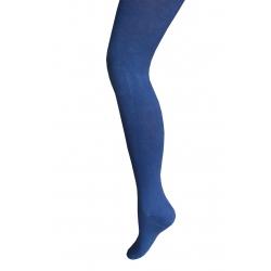 90%bavlny! Dievčenské modré bavlnené pančuchy