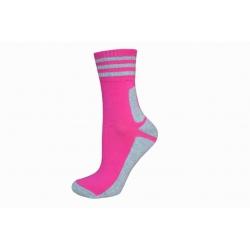 IBA 35-38! Polofroté ružové športové ponožky