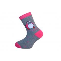IBA 28-31! Detské teplé bavlnené ponožky s Pinguom