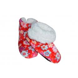 IBA 28-31! Červené plyšové detské papuče s kožušinou