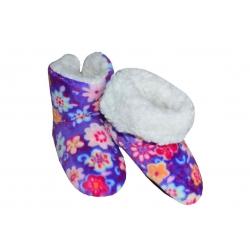 IBA 24-27! Fialové dievčenské teplé papuče
