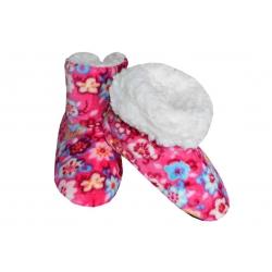 IBA 32-35! Ružové dievčenské teplé papuče