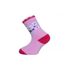 IBA 28-31! Detské termo ponožky s kvetinkami
