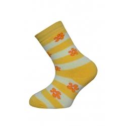Žlté teplé detské ponožky