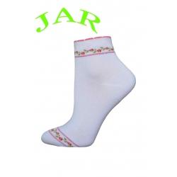Kvalitné broskyňové ponožky s ružičkami