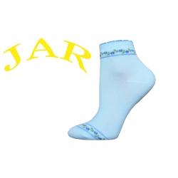IBA 38-41! Kvalitné belasé ponožky s ružičkami