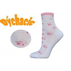 Kvalitné dámske perforované ponožky
