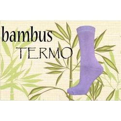 IBA 35-38! Bambusové fialové termo ponožky