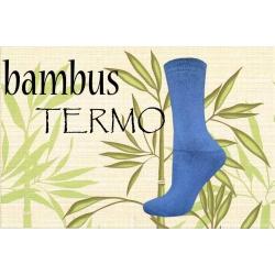 Bambusové modré termo ponožky