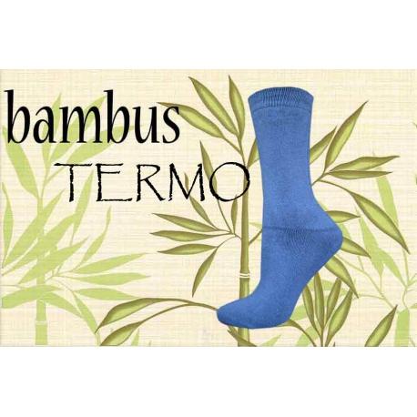 Bambusové termo ponožky jednofarebné