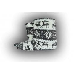 IBA 35-38! Vysoké teplé papuče s jelením vzorom