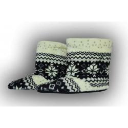Široké dámske teplé papuče