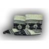 Papuče dámske teplé vysoké nórsky vzor