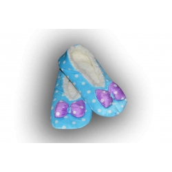 POSLEDNÝ KUS 35-38! Krásne modré nízke zateplené papuče pre ženu