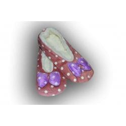 1fb63186211f Balerínkové bodkované papuče