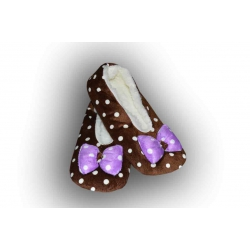 POSLEDNÝ KUS 35-38! Balerínkové bodkované papuče