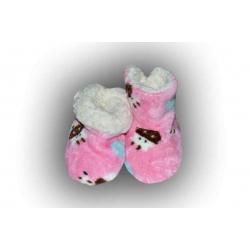 POSLEDNÝ KUS 28-31! Pestré detské teplé papuče