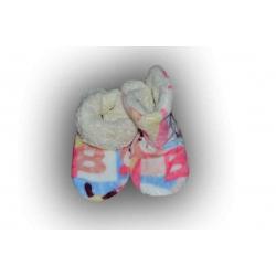 IBA 38-31! Pestré detské teplé papuče