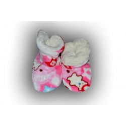 Pestré detské teplé papuče