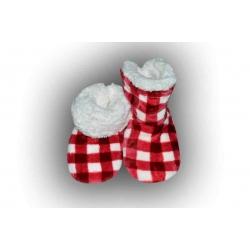 IBA 28-31! Super teplé detské kockované papuče