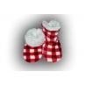 Teplé kockované papuče pre deti