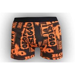 Čierno-oranžové pánske boxerky