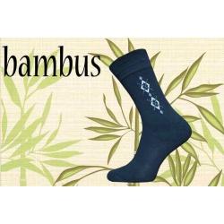 Prvotriedne bambusové ponožky - čierne