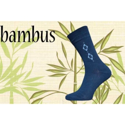 Prvotriedne bambusové ponožky - modré