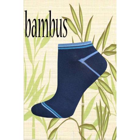 Kotníkové bambusové dámske ponožky