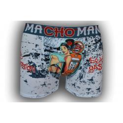 Vzorované kvalitné boxerky pre muža