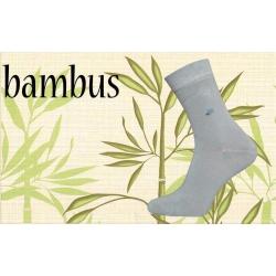Bambusové vysoké ponožky s jemným lemom