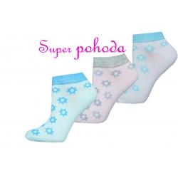 Dámske lacné nízke ponožky v troj-balení