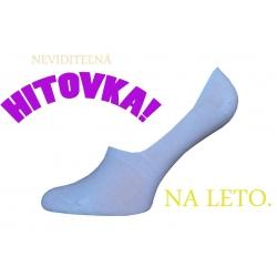 IBA 38-41! Biele bavlnené neviditeľné ponožky
