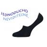 Bavlnené pánske čierne neviditeľné ponožky