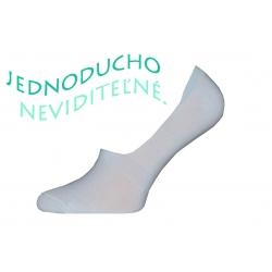 Biele neviditeľné pánske ponožky