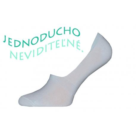 Bavlnené pánske biele neviditeľné ponožky