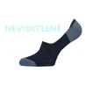 Pánske modro-tm.sivé bavlnené neviditeľné ponožky
