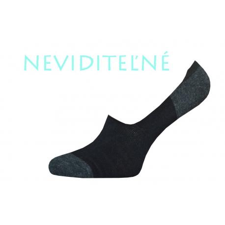 Pánske čierno sivé bavlnené neviditeľné ponožky