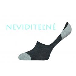 Pánske antracitovo sivé bavlnené neviditeľné ponožky
