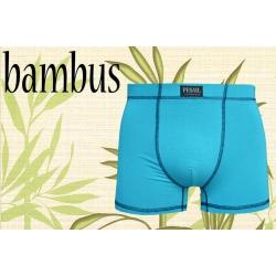 Posledný kus 3XL! Tyrkysové bambusové boxerky