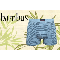 Sivé bambusové boxerky so vzorom