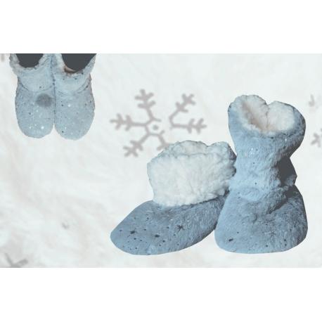 Pohodlné dámske vyteplené papučky na doma
