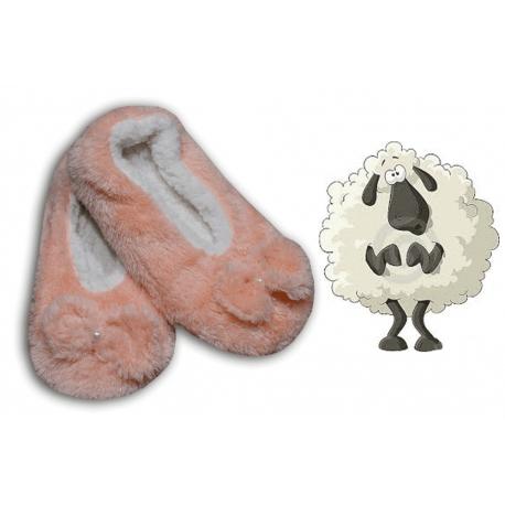 Kvalitné dámske chlpaté papučky na chladné obdobie