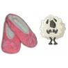Dámske vyteplené super pohodlné papuče