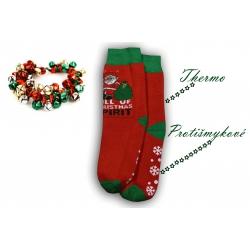 IBA 39-42! Vianočné teplé pánske ponožky s ABS