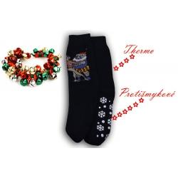 Vtipné pánske hrubé thermo protišmykové ponožkové papuče za super cenu