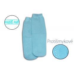 Teplé protišmykové modré ponožky